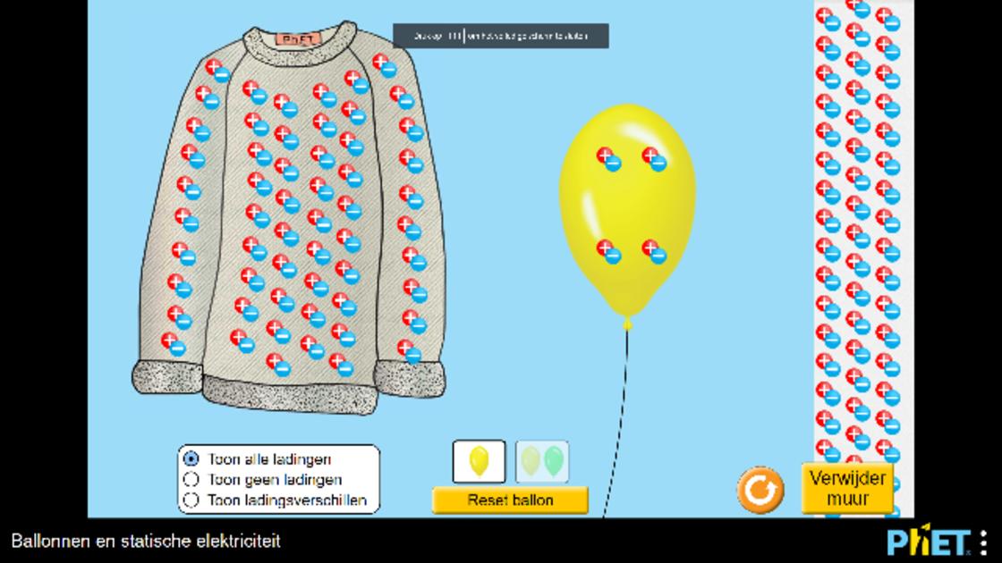 Ballonnen en statische elektriciteit