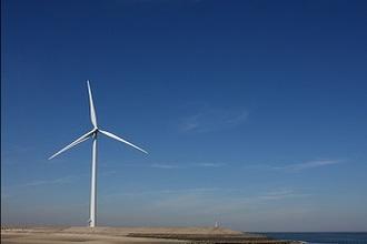 Foto van een windmolen (HAVO12 2006-II)