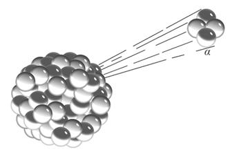 Alfaverval: hoe ontsnapt een α-deeltje uit de kern? (voorbeeldexamen quantum)
