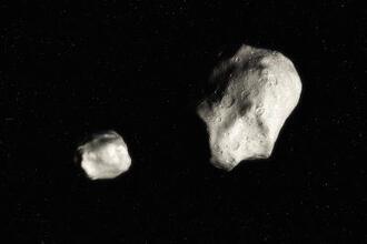 Dubbel-planetoïde 1999 KW4 (VWO pilotexamen, 2014-1, opg 5)