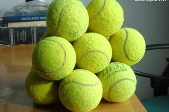 Balancerende tennisballen