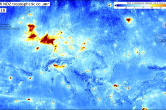 Tropomi meet wereldwijd luchtvervuiling