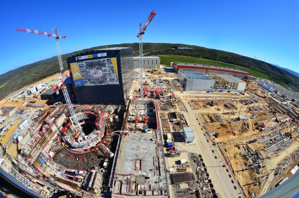 Bouwsite kernfusiereactor ITER
