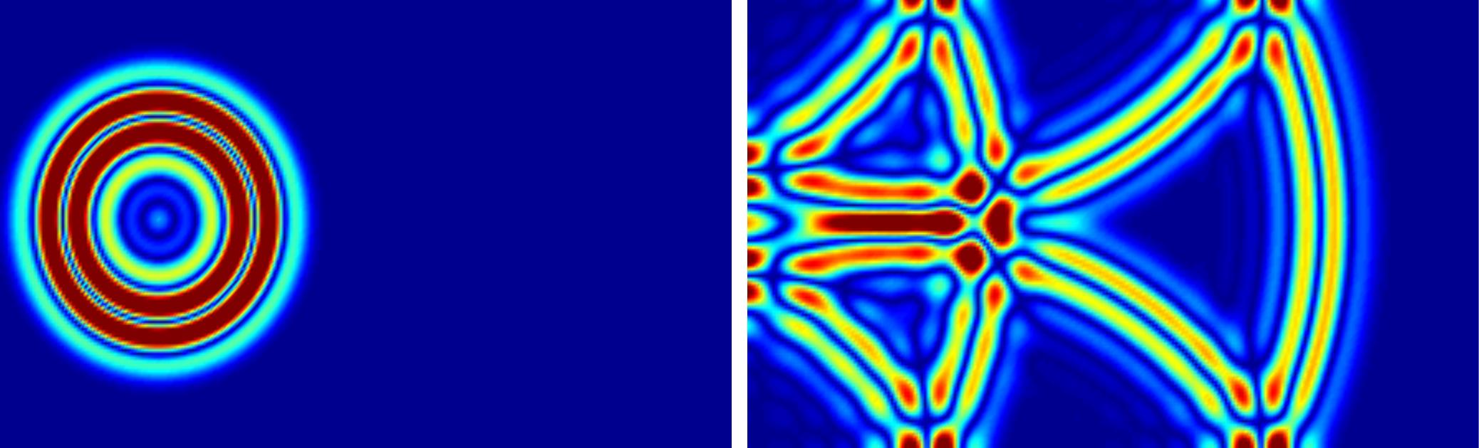 Simulatie geluidsgolven