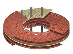 gestapelde platen vormen magneet
