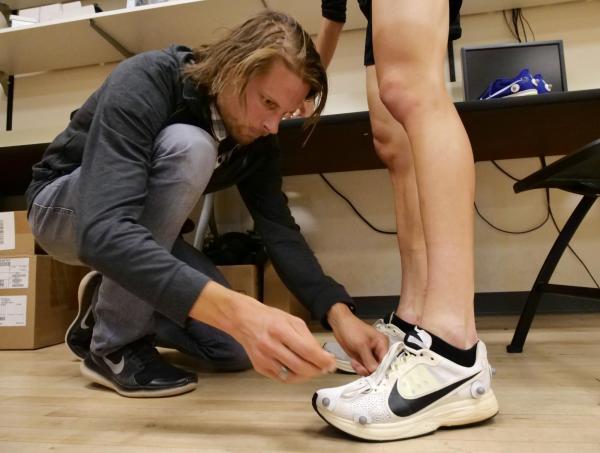 Voorbereiden test marathonschoenen