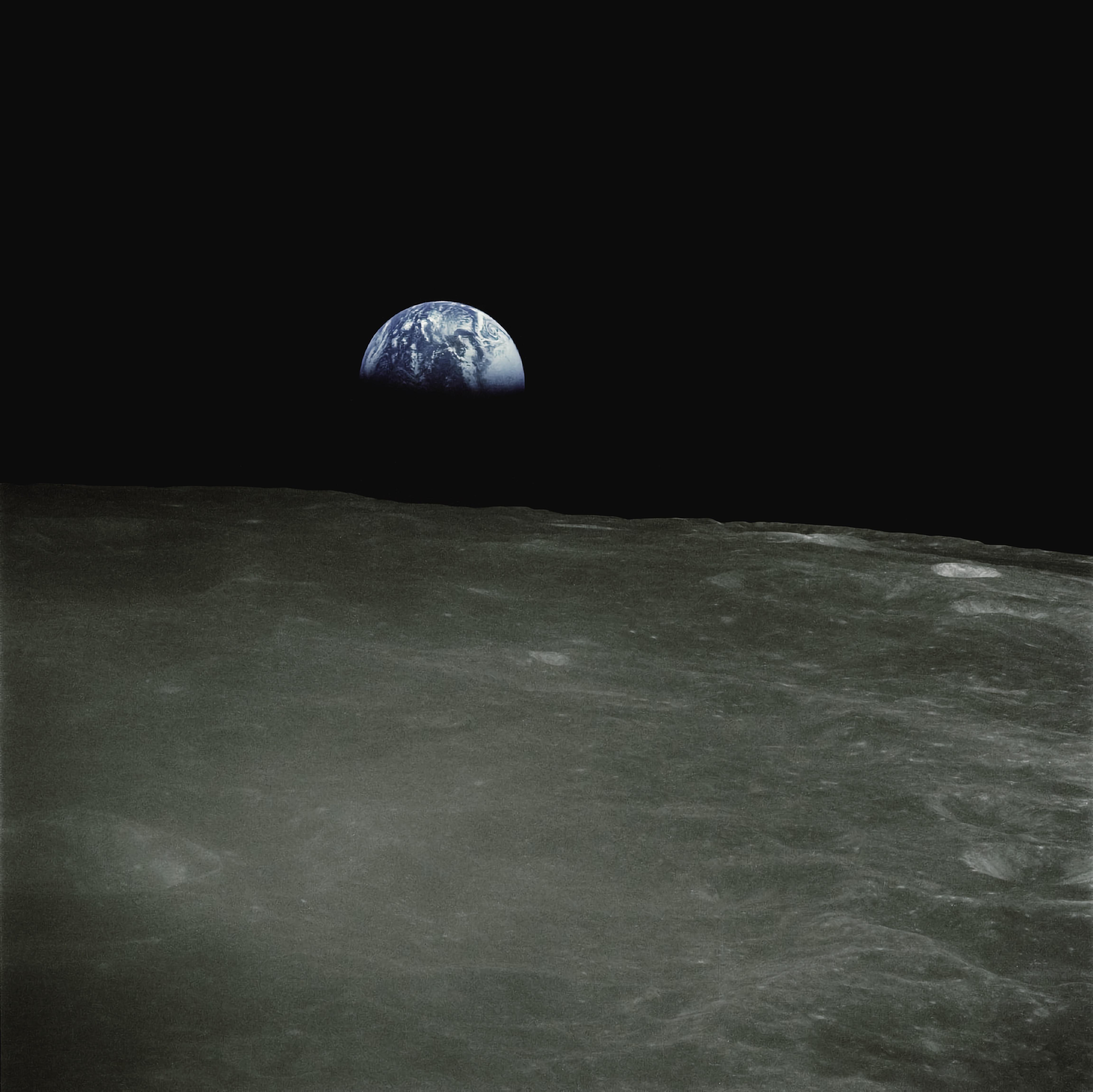Aarde gezien vanaf de maan